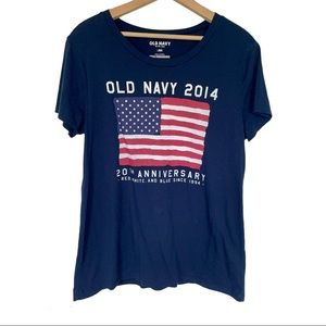 American Flag Old Navy Fourth of July Tee Navy